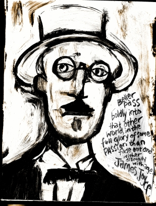 james joyce high contrast quote